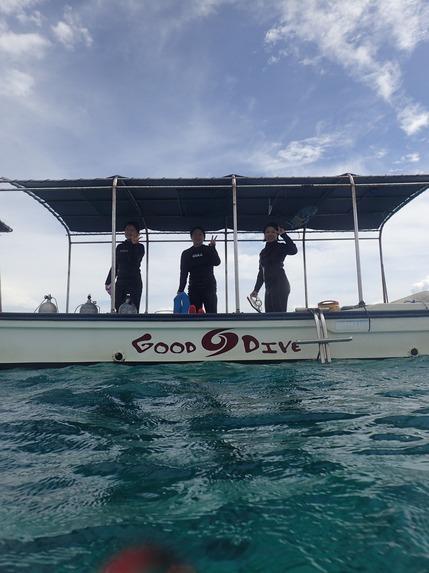 鳩間島で体験ダイビング