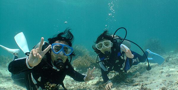 西表島の体験ダイビング