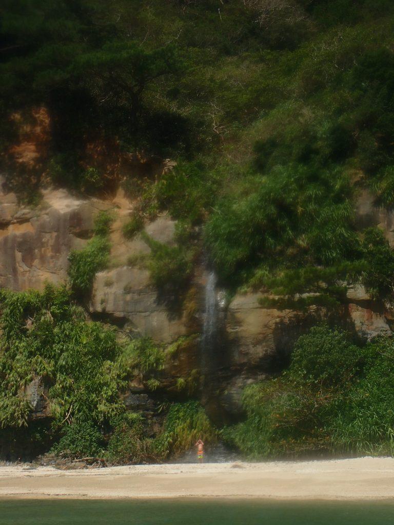 西表で滝シャワー