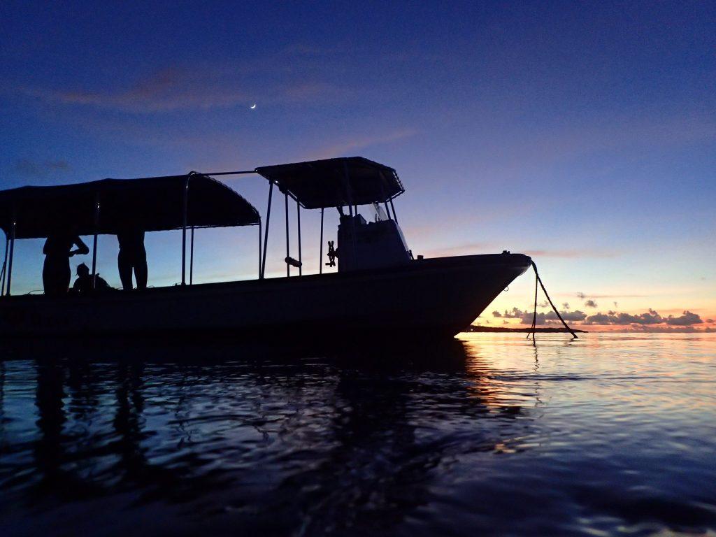 日没前のダイビング