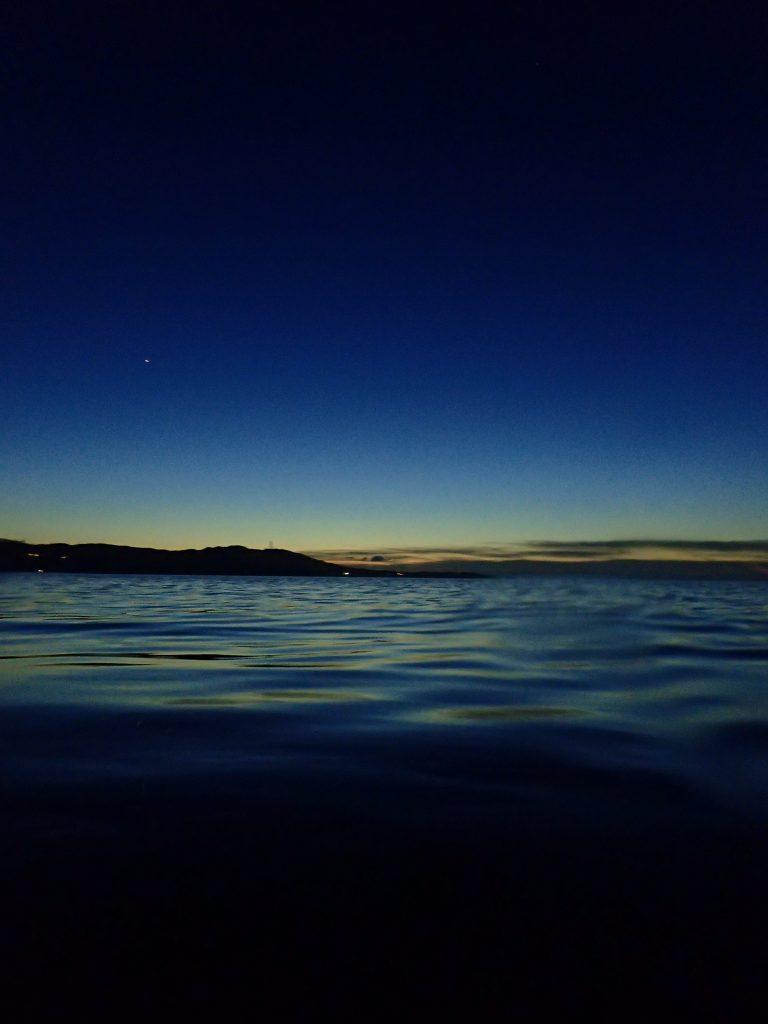 サンセットダイブで見れる日没