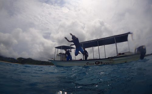 家族で参加のダイビング